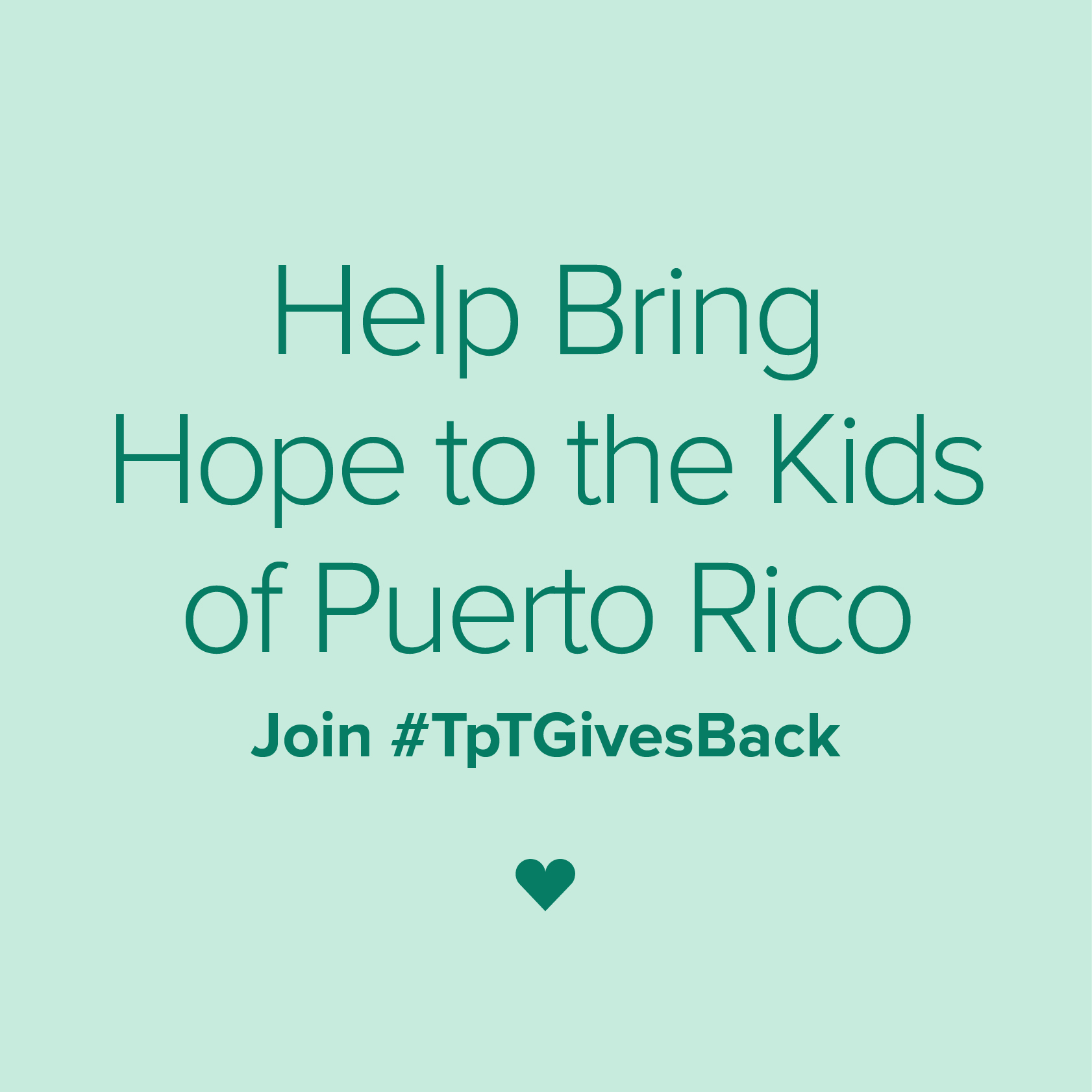 #TpTGivesBack to the Kids of Puerto Rico