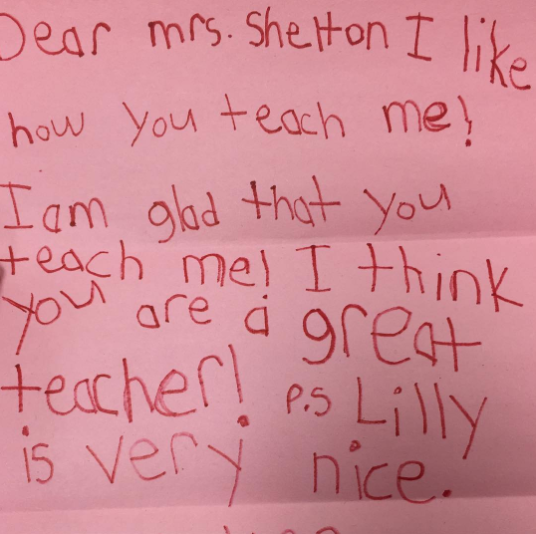 The Best Notes from Students to Teachers