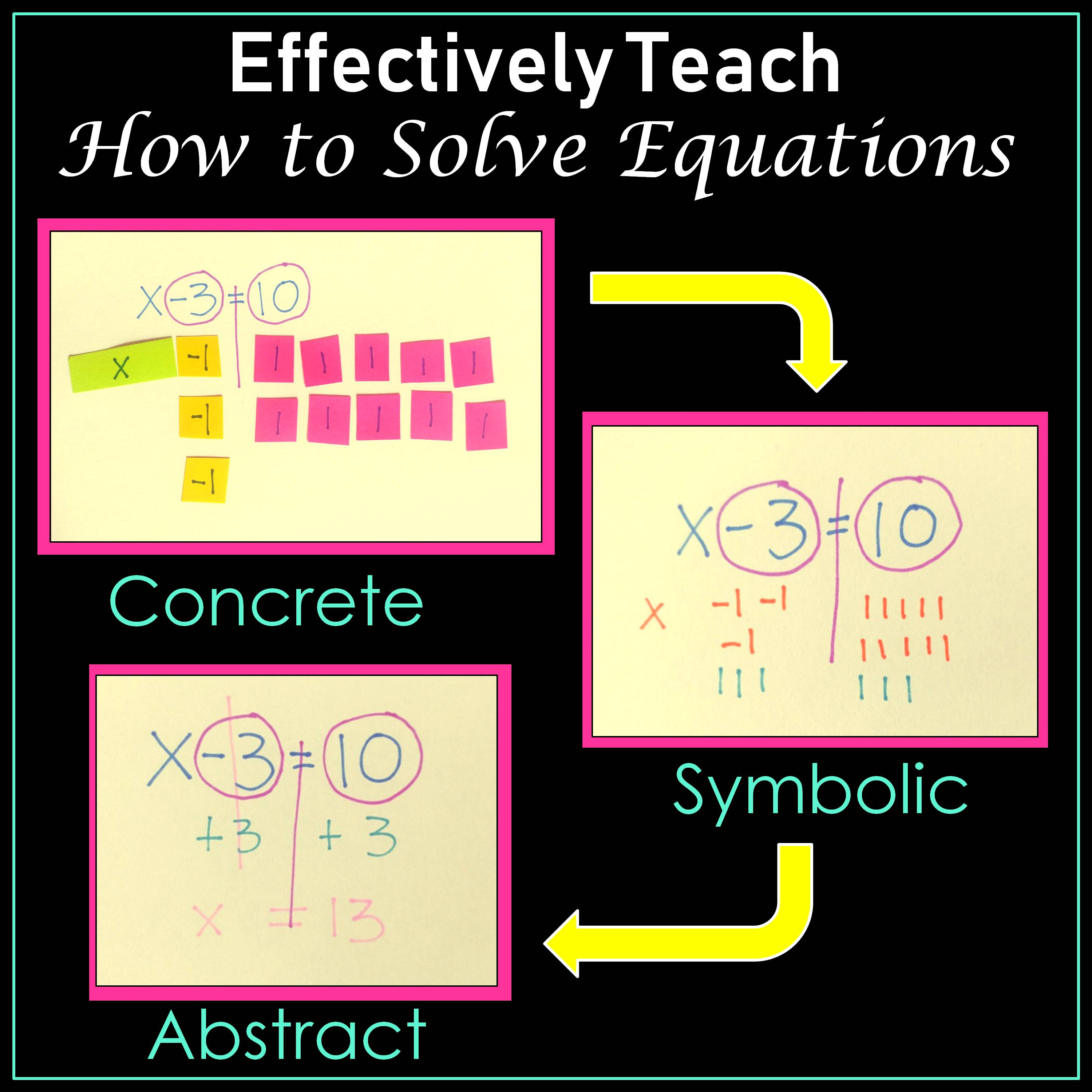 Effectively Teach How to Solve Equations