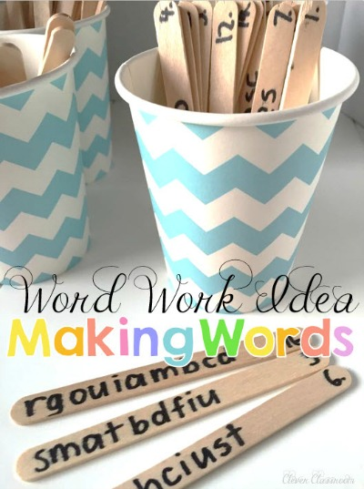 Word Work With Popsicle Sticks!