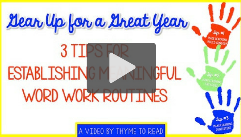 Try These 3 Word Work Tips