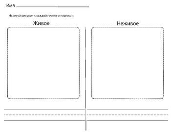 Живое и Неживое. Living and nonliving. Russian.