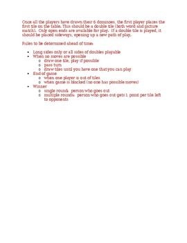 Овощи (Vegetables in Russian) Dominoes
