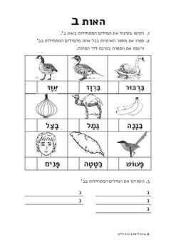Words Beginning With... (Hebrew Alphabet)
