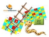 لعبة السلم والثعبان Snakes and ladders template