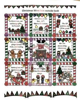 """中文和英文圣诞节惊喜盒子 Christmas """"wow box"""" in English and Mandarin"""