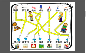 中文学校单元寻宝游戏  Mandarin Chinese school places & objects scavenger hunt