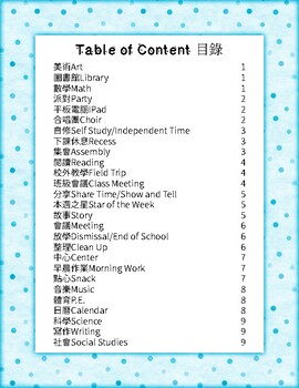 中文日程表卡(繁體) Chinese Daily Schedule Cards (Traditional)