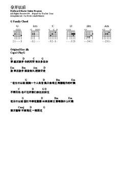 分开以后-Fuying and Sam Song Sheet with chord chart