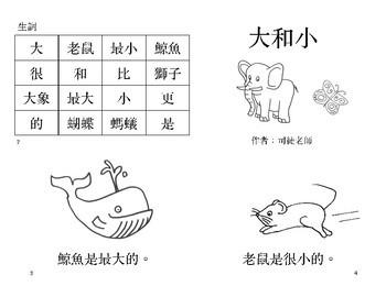 大和小小閱讀書 Little Chinese Reader: Big and Small