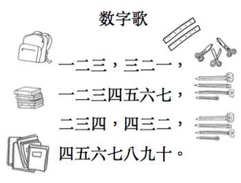 數字歌小閱讀書 Little Chinese Reader: Number Song