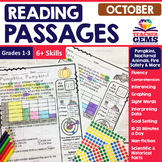 October Reading Passages - Pumpkins, Nocturnal Animals, Fi
