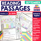 September Reading Passages - School and Apples