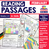 February Reading Passages - Valentine's, Presidents & More
