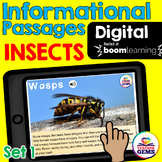 Insects Informational Passages Set 1 Boom Cards™ Distance
