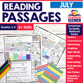 July Reading Passages - American Symbols & National Parks