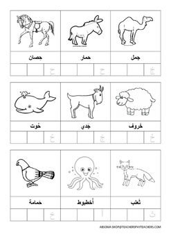 أسماء حيوانات تبدأ بالأحرف من أ-ح