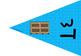 דגלוני אותיות הא-ב לתלייה בכיתה בכחול