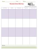 Μonthly-weekly study planner