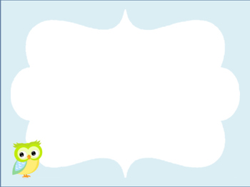 Blank classroom job cards with owl