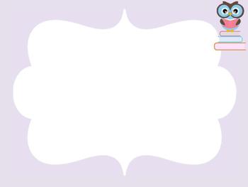 Blank classroom job cards with owl