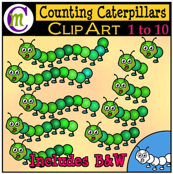 Counting Clipart Caterpillars