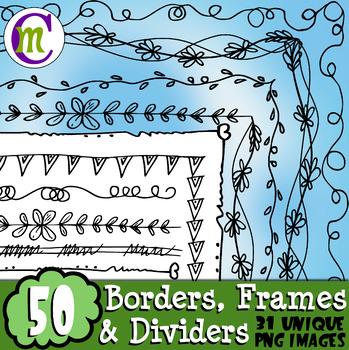 Doodle Borders Clipart #2