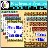Mushroom Frames Clipart