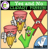 Yes and No Clipart FREEBIE