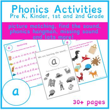 FREE Short 'a' Sound Phonics Bundle 30+   Phonics Resources   Phonics Worksheets