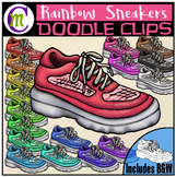 Rainbow Sneakers Clipart