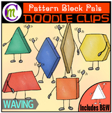 Pattern Block Clipart Pals: Waving