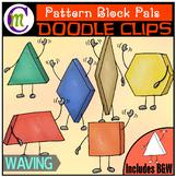 Pattern Block Clipart Pals: Waving
