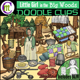 Little Girl in the Big Woods Clipart