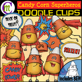 Candy Corn Superhero Clipart