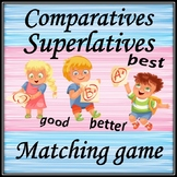 Сomparatives and superlatives. Flashcards and a matching game.