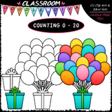 (0-20) Counting Balloons - Sequence, Counting & Math Clip
