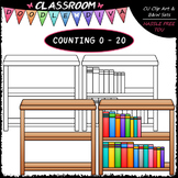 (0-20) Counting Books - Sequence, Counting & Math Clip Art