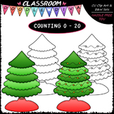 (0-20) Counting Christmas Tree Lights - Sequence, Counting