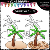 (0-20) Counting Coconuts - Sequence, Counting & Math Clip Art & B&W Set