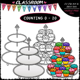 (0-20) Counting Cupcakes - Sequence, Counting & Math Clip