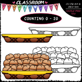 (0-20) Counting Dinner Rolls - Sequence, Counting & Math C