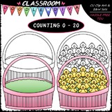 (0-20) Counting Easter Chicks - Sequence, Counting & Math