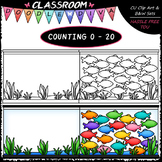 (0-20) Counting Fish - Sequence, Counting & Math Clip Art