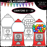 (0-20) Counting Gumballs - Sequence, Counting & Math Clip