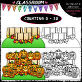 (0-20) Counting Jack-o-lanterns - Sequence, Counting & Mat