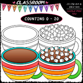 (0-20) Counting Marshmallows - Sequence, Counting & Math Clip Art & B&W Set