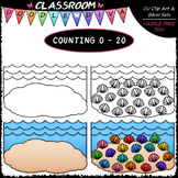 (0-20) Counting Seashells - Sequence, Counting & Math Clip
