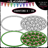 (0-20) Counting Shamrock Cookies - Counting & Math Clip Ar
