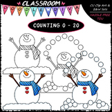 (0-20) Counting Snowballs - Sequence, Counting & Math Clip